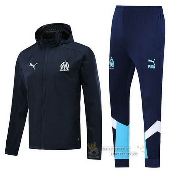 Maillot De Foot PUMA Ensemble Coupe Vent Marseille 2020 2021 Bleu