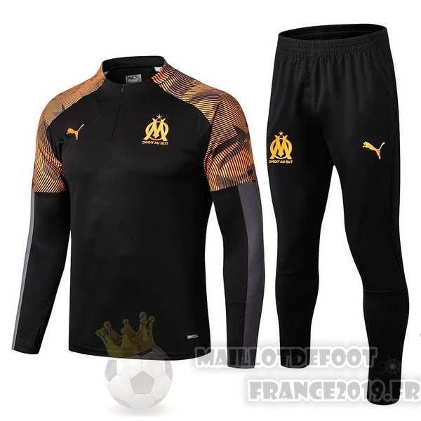 Maillot De Foot Puma Survêtements Marseille 2019 2020 Orange Noir
