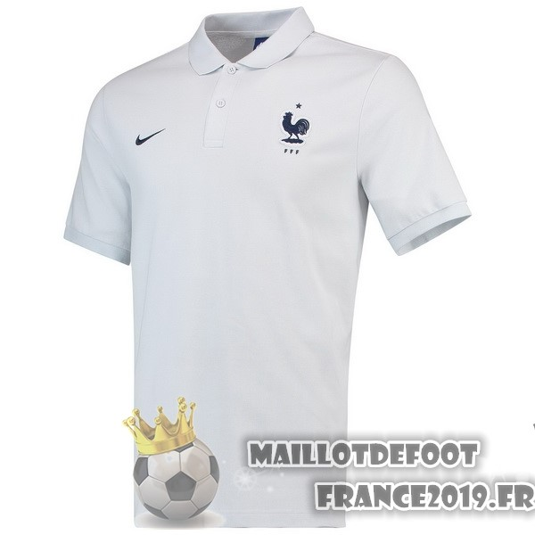 Maillot De Foot Nike Polo France 2018 Blanc
