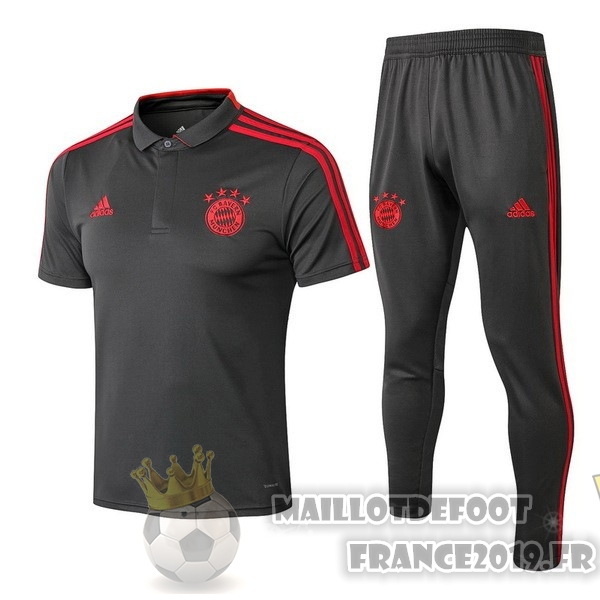 Maillot De Foot adidas Ensemble Polo Bayern Munich 2018-2019 Gris