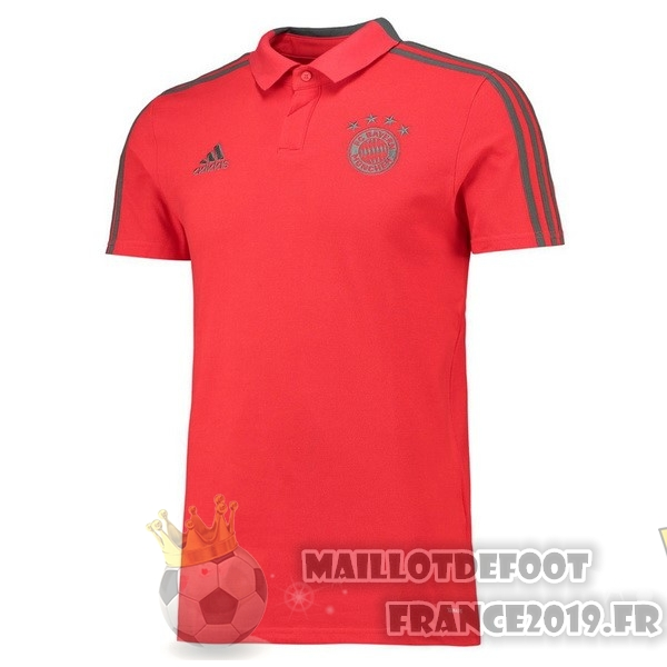 Maillot De Foot adidas Polo Bayern Munich 2018-2019 Rouge