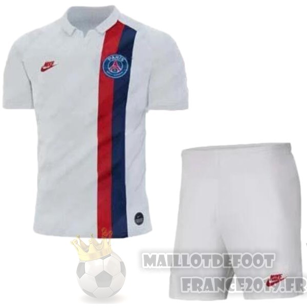 Maillot De Foot Nike Third Ensemble Enfant Paris Saint Germain 2019 2020 Blanc