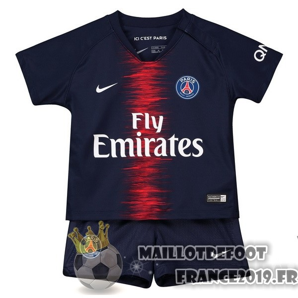 Maillot De Foot Nike Domicile Ensemble Enfant Paris Saint Germain 2018-2019 Bleu