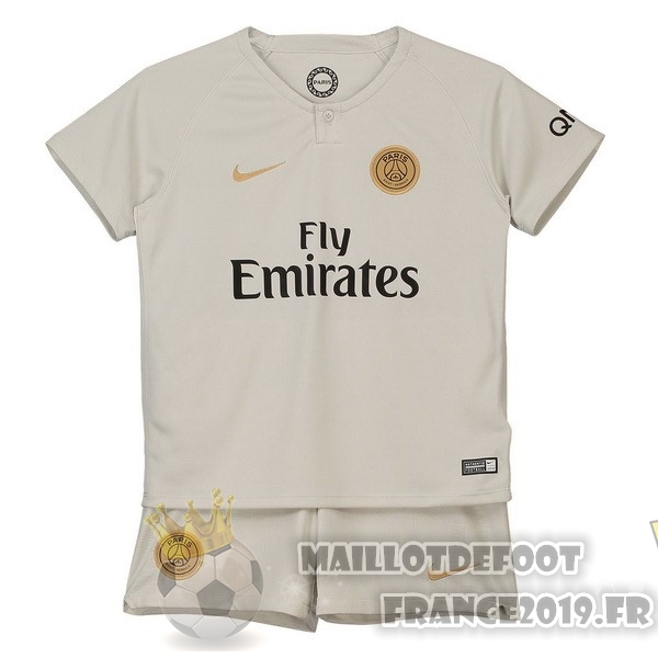 Maillot De Foot Nike Exterieur Ensemble Enfant Paris Saint Germain 2018-2019 Blanc