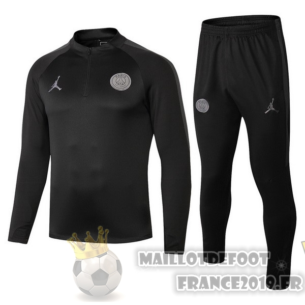 Maillot De Foot JORDAN Survêtements Enfant Paris Saint Germain 18-19 Noir
