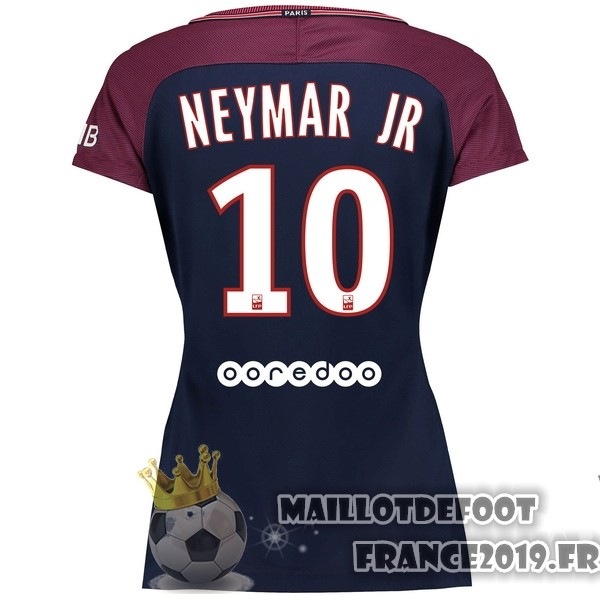 Maillot De Foot Nike NO.10 Neymar JR Domicile Maillots Femme Paris Saint Germain 2017-2018 Bleu