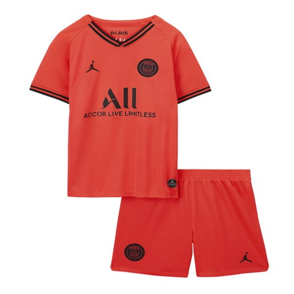 Maillot De Foot JORDAN Exterieur Ensemble Enfant Paris Saint Germain 2019 2020 Orange