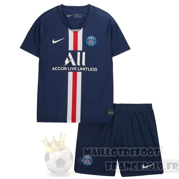 Maillot De Foot Nike Domicile Ensemble Enfant Paris Saint Germain 2019 2020 Bleu
