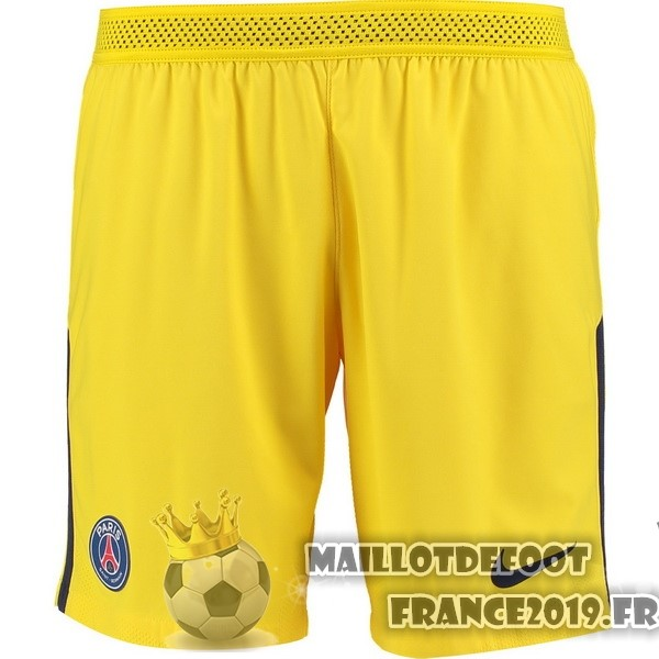 Maillot De Foot Nike Exterieur Shorts Paris Saint Germain 2017-2018 Jaune