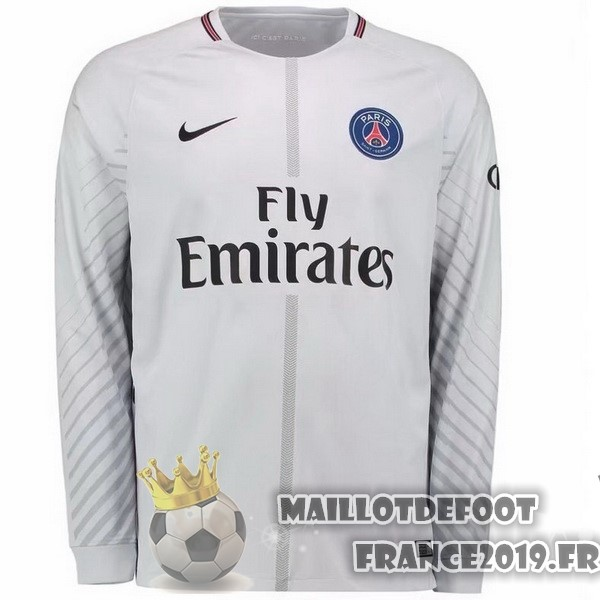 Maillot De Foot Nike Maillots Manches Longues Gardien Paris Saint Germain 2017-2018 Gris