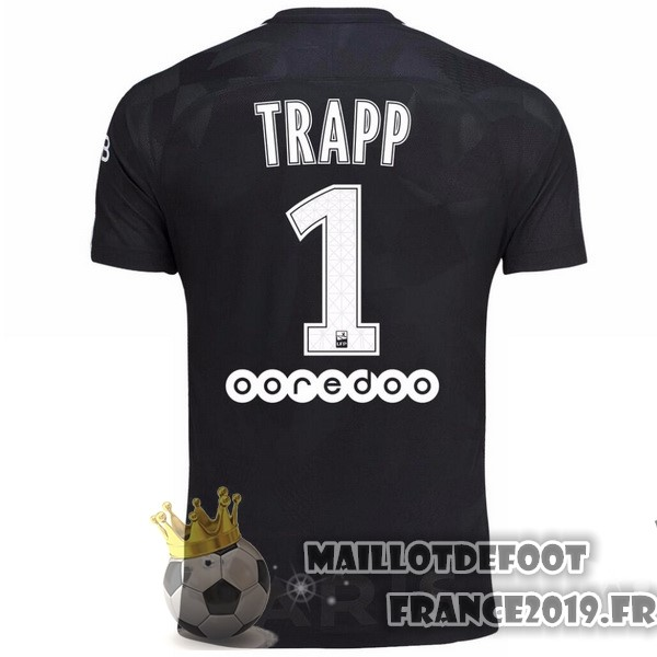 Maillot De Foot Nike NO.1 Trapp Third Maillots Paris Saint Germain 2017-2018 Noir