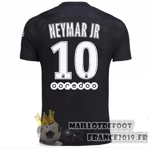 Maillot De Foot Nike NO.10 Neymar JR Third Maillots Paris Saint Germain 2017-2018 Noir