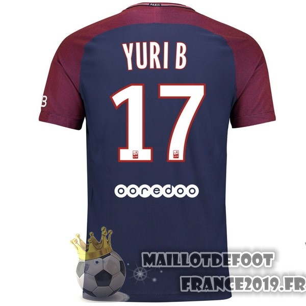 Maillot De Foot Nike NO.17 Yuri B. Domicile Maillots Paris Saint Germain 2017-2018 Bleu