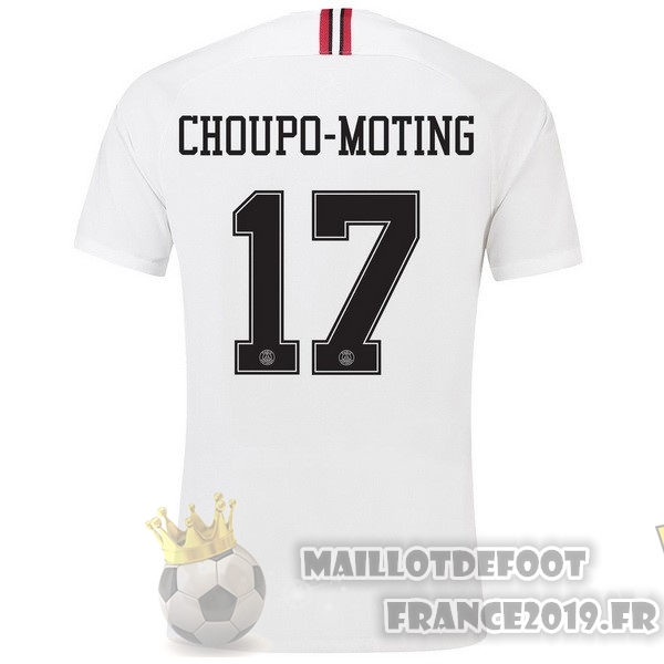 Maillot De Foot JORDAN NO.17 Choupo Moting Third Exterieur Maillots Paris Saint Germain 18-19 Blanc