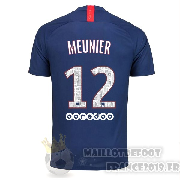 Maillot De Foot Nike NO.12 Meunier Domicile Maillot Paris Saint Germain 2019 2020 Bleu