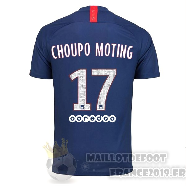 Maillot De Foot Nike NO.17 Choupo Moting Domicile Maillot Paris Saint Germain 2019 2020 Bleu