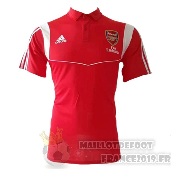 Maillot De Foot Adidas Polo Arsenal 2019 2020 Rouge Blanc