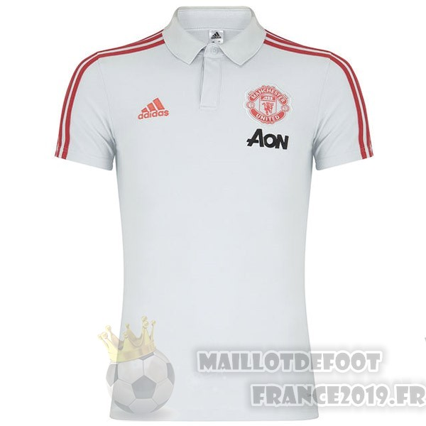 Maillot De Foot Adidas Polo Manchester United 2019 2020 Blanc