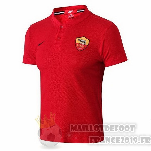 Maillot De Foot Nike Polo AS Roma 2018 2019 Rouge