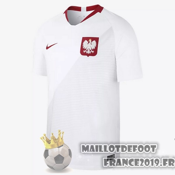 Maillot De Foot Nike Domicile Maillots Pologne 2018 Blanc