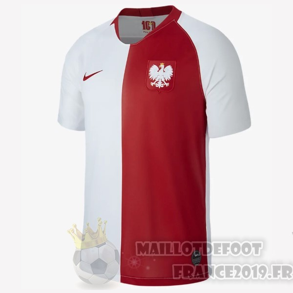 Maillot De Foot Nike Maillot Pologne 100th Blanc Rouge