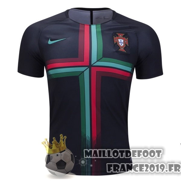 Maillot De Foot Nike Pre Match Maillots Portugal 2018 Noir