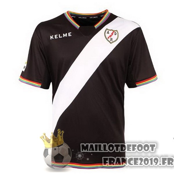 Maillot De Foot Kelme Third Maillots Rayo Vallecano de Madrid 2017-2018 Noir Rouge