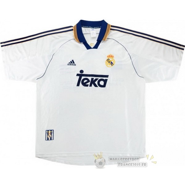 Maillot De Foot adidas Domicile Maillot Real Madrid Rétro 1999 2000 Blanc