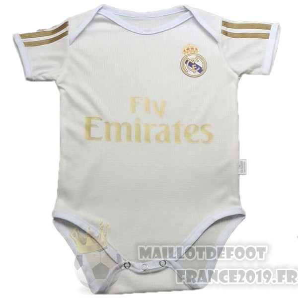 Maillot De Foot Adidas Domicile Onesies Enfant Real Madrid 2019 2020 Blanc