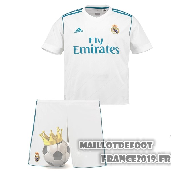 Maillot De Foot adidas Domicile Ensemble Enfant Real Madrid 2017-2018 Blanc