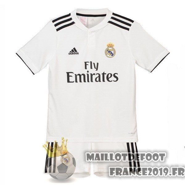 Maillot De Foot adidas Domicile Ensemble Enfant Real Madrid 2018-2019 Blanc