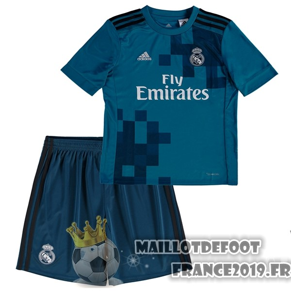 Maillot De Foot adidas Third Ensemble Enfant Real Madrid 2017-2018 Bleu