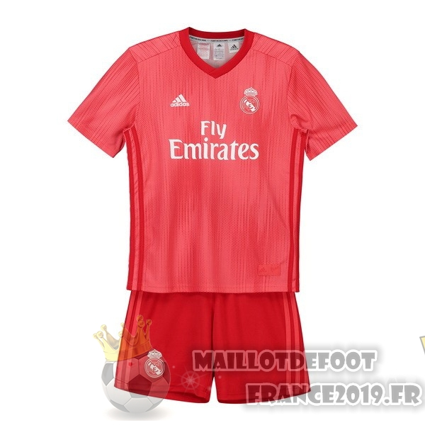 Maillot De Foot adidas Third Ensemble Enfant Real Madrid 2018-2019 Rouge