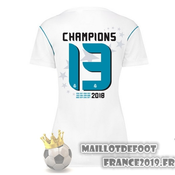 Maillot De Foot adidas Champions 13 Domicile Maillots Femme Real Madrid 2017-2018 Blanc
