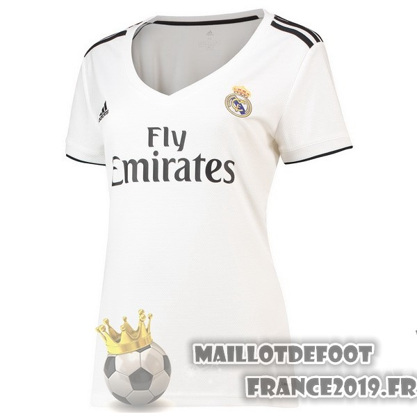 Maillot De Foot adidas Domicile Maillots Femme Real Madrid 2018-2019 Blanc