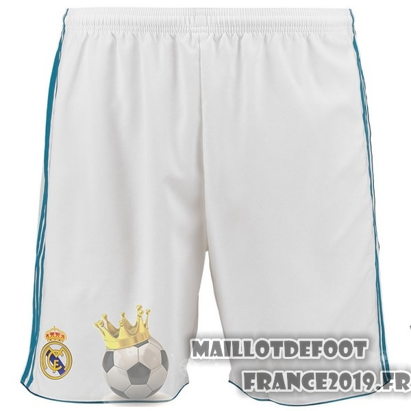 Maillot De Foot adidas Domicile Shorts Real Madrid 2017-2018 Blanc