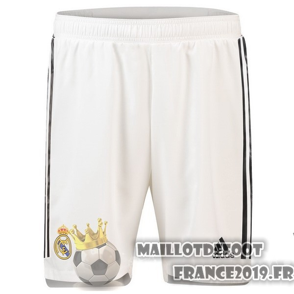 Maillot De Foot adidas Domicile Shorts Real Madrid 2018-2019 Blanc