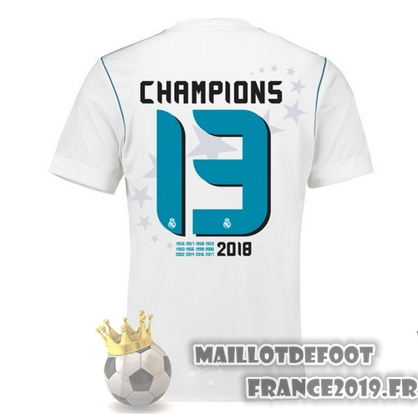 Maillot De Foot adidas Thailande Champions 13 Domicile Maillots Real Madrid 2017-2018 Blanc