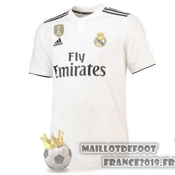 Maillot De Foot adidas Thailande Domicile Maillots Real Madrid 2018-2019 Blanc