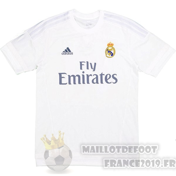Maillot De Foot adidas Domicile Maillot Real Madrid Retro 2015 2016 Blanc