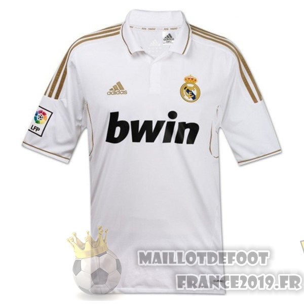 Maillot De Foot adidas Domicile Maillots Real Madrid Rétro 11-12 Blanc