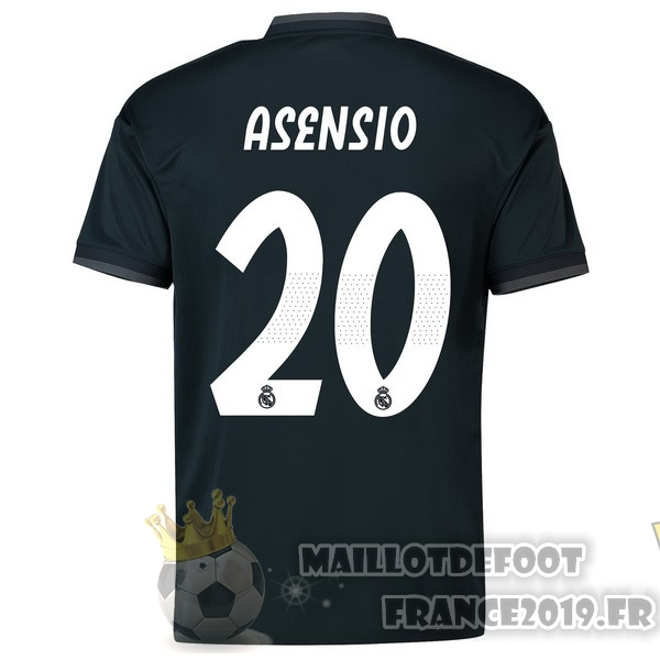 Maillot De Foot adidas NO.20 Asensio Exterieur Maillots Real Madrid 18-19 Noir