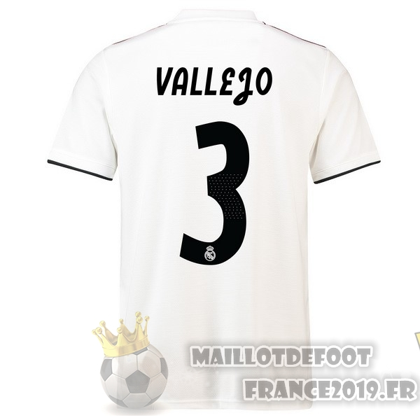Maillot De Foot adidas NO.3 Vallejo Domicile Maillots Real Madrid 18-19 Blanc