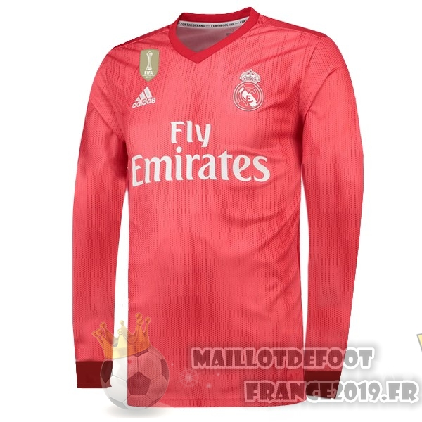 Maillot De Foot adidas Third Manches Longues Real Madrid 18-19 Rouge