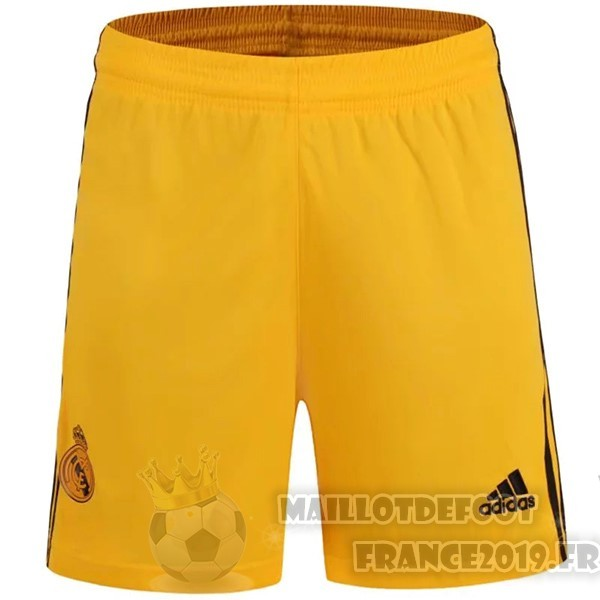Maillot De Foot Adidas Domicile Gardien Pantalon Real Madrid 2019 2020 Amarillo