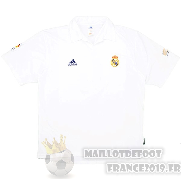 Maillot De Foot adidas Domicile Maillot Real Madrid Rétro 2001 2002 Blanc