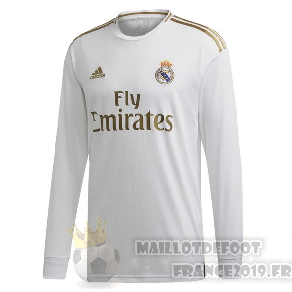 Maillot De Foot adidas Domicile Manches Longues Real Madrid 2019 2020 Blanc