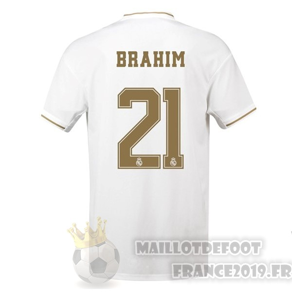 Maillot De Foot adidas NO.21 Brahim Domicile Maillot Real Madrid 2019 2020 Blanc