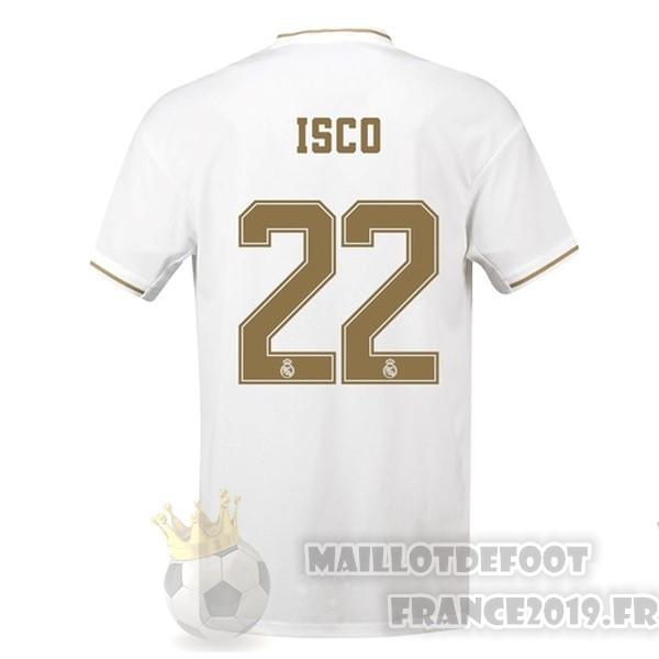 Maillot De Foot adidas NO.22 Isco Domicile Maillot Real Madrid 2019 2020 Blanc