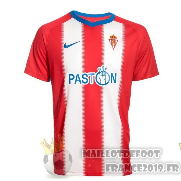 Maillot De Foot Nike Domicile Maillots Real Sporting de Gijón 2018-2019 Rouge